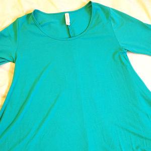 LulaRoe Carly Medium Turquoise Aqua Blue